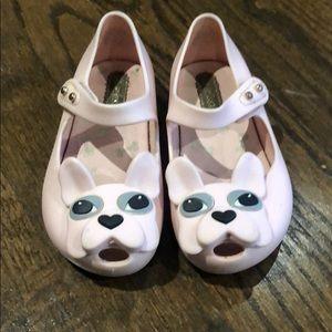 Mini Melissa Ultragirl Pink French Bulldog shoes